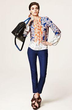 Diane von Furstenberg 'Novalee' Silk Blouse