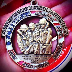 Wounded Warrior Half Marathon Medal 2012
