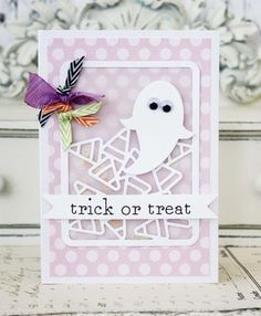 Trick Or Treat Card by Melissa Phillips for Papertrey Ink (August 2014)