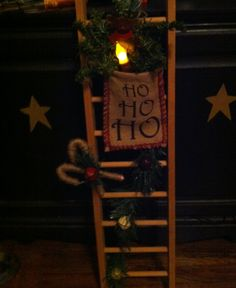 Primitive christmas ladder
