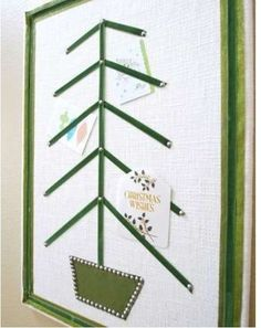 Holiday Decorating #DIY Projects: Holiday Card Holder -- via @Better Homes and Gardens