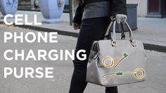 Cell Phone Charging Purse - the Power of Induction #cellphonechargingpurse #phonecharger #electronicfashion #wearableelectronics