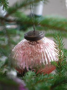 pink mercury glass ornament