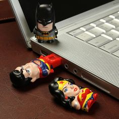 Batman, Wonder Woman and Superman USB drives