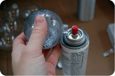 Painting clear glass ball ornaments