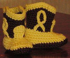 Botas de Cowboy para bebés – Patrón Crochet gratuito by hastaelmonyo