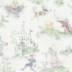 Nursery Rhyme Toile Crib Sheets