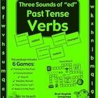 "Three Sounds of ""ed"" Past Tense Verbs - Grammar Games and Lesson Plans.  $    The 3 sounds of ""ed"" Past Tense Verbs games and grammar activities are en..."