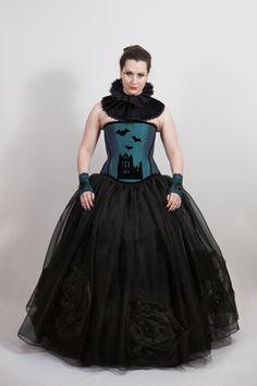 Whitby Bats Corset. £160 http://www.emeraldangel.co.uk/whitby-gothic-corset.html