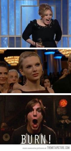 When Adele won the Golden Globe for Best Soundtrack…