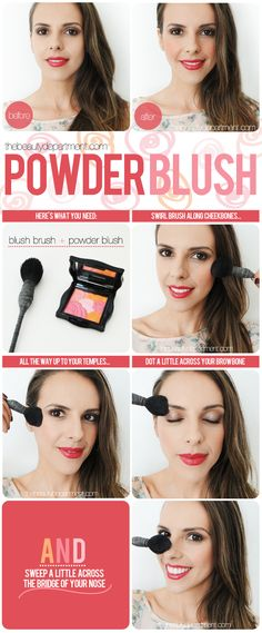 BLUSH PART TWO! Our top 5 reasons to opt for powder blush {and why you can't forget your temples, browbones + nose!}.
