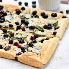 Blueberry Ricotta Basil Pizza