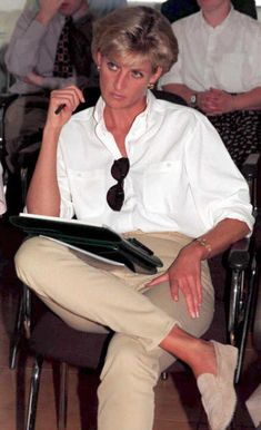 January 1997On a British Red Cross mission to highlight the evil of land mines in Luanda. (Getty photo)