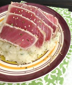 Sesame Seared Tuna & Wasabi Mashed Potatoes