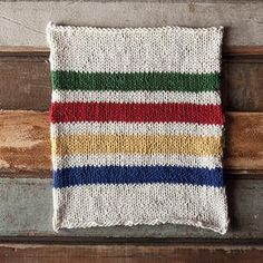 Hudson's Bay Inspired Dishcloth by Holly Klein. Free Pattern!