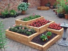 Multi level garden. garden ideas, raised gardens, yard, raised bed gardens, rais garden, bed designs, rais bed, raised garden beds, bed idea