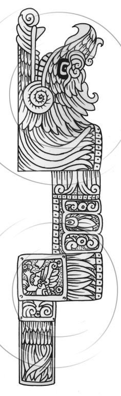 feathered serpent glif maya ta2s tattoos for life long term ca. Black Bedroom Furniture Sets. Home Design Ideas