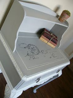Pretty painted desk