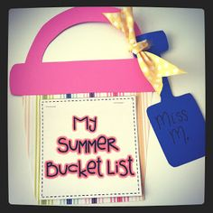 Miss Kindergarten: My Summer Bucket List!