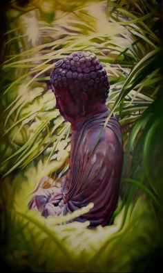 Buddha in the Garden  Andi Porisky Macdonell. Oil on canvas, 6' by 4'. Copyright. All rights right reserved.
