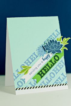 Sending A Happy Hello Card by Erin Lincoln for Papertrey Ink (March 2013)