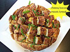 Cheesy Bacon Ranch Blooming Onion Bread #LMDConnector