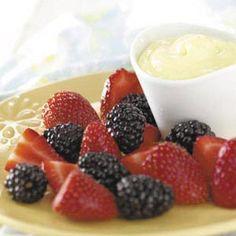 Simple Lemon Fruit Dip Recipe | Taste of Home Recipes
