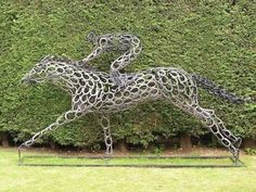 By Tony Hill - a British sculptor using just horseshoes