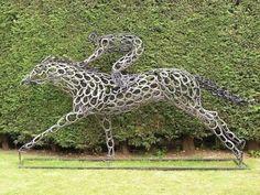 animals, barrel racing, barrels, british, horseshoe art, barns, animal sculptures, environmental design, blog