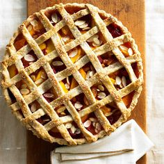 Fruit and Almond Country-Style Tart. More dessert ideas for Thanksgiving: http://www.bhg.com/thanksgiving/recipes/fresh-thanksgiving-desserts/