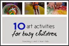 Art Activities for Active Kids from Teaching 2 and 3 Year Olds