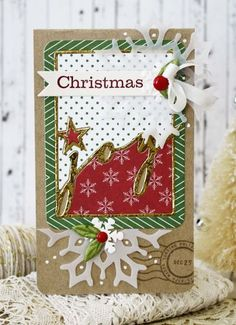 Christmas Joy Card by Melissa Phillips for Papertrey Ink (September 2014)