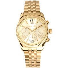 Michael Kors Mini Chronograph Watch ($395) ❤ liked on Polyvore