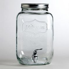 One of my favorite discoveries at WorldMarket.com: Glass Yorkshire Dispenser