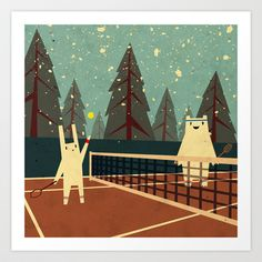 First Snow Art Print by Yetiland - $18.00