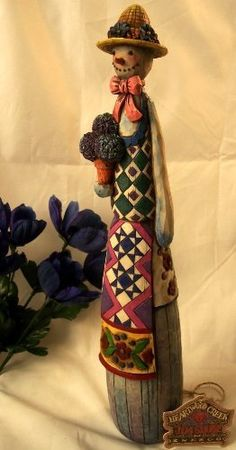 Jim Shore Pencil Snowman with Flower Pot...