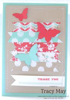 Stampin Up! UK Fresh Prints   Bitty Elegant Butterfly Fresh Prints DSP