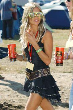 Coachella Festival fever.....chunky hippie belt with romantic gypsy ruffles