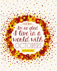 Fall Printable, Anne of Green Gables Quote