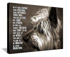 Dog PET Lover MANS best friend Loss of Pet  by GeezeesCustomCanvas, $140.00
