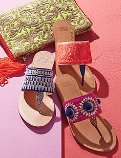 gorgeous bright colored sandals