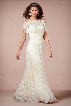 #Omelia Gown from BHLDN  white dresses #2dayslook #new style #whitefashion  www.2dayslook.com