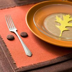 Make your own placemats with this quick and easy idea: http://www.bhg.com/thanksgiving/decorating/fall-table-settings/?socsrc=bhgpin102413makeyourownplacemats&page=12