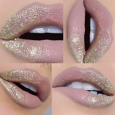 @limecrimemakeup Cashmere (yeah yeah yeah I know... I'm obsessed) Violet Voss Goldie glitter (sara_mua_ )
