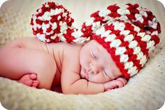 Baby Christmas Hat Newborn Photo Prop by MitziKnitz on Etsy, $22.00