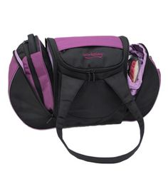 The Goddess III - Womens Gym and Travel Bag - Berry / Black - look how