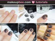 Step-By-Step #Tutorial for Lace Nails