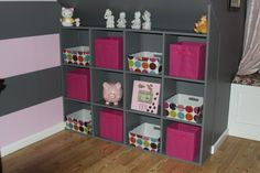 pink grey - LOVE for the girls room