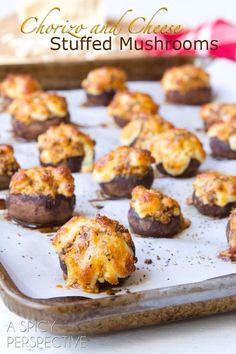 stuffed mushroom w/ chorizo and cheese