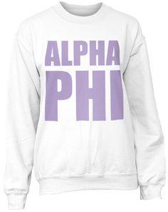 Alpha Phi Sweatshirt from Adam Block
